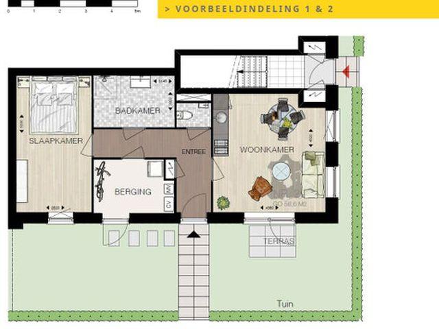 Te huur: Appartement Zuidland Maalsteen
