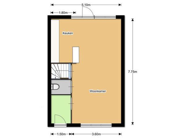 Te huur: Huurwoning Breda Kolfbaanstraat