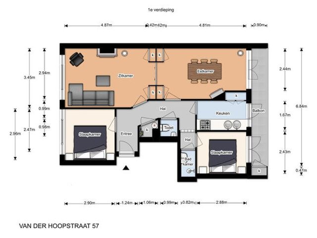 Te huur: Kamer Den Haag Van der Hoopstraat